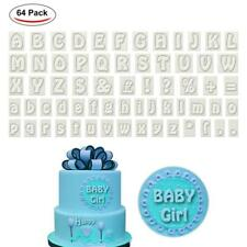 64Pcs Alphabet Letter Fondant Cookie Cutter Mold Chocolate Cake Embosser Mould J