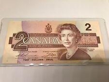 Two 1986 Consecutive Uncirculated $2 Bills