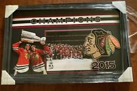 Jonathan Toews Patrick Kane Chicago Blackhawks 2015 Stanley Cup 35x22 Framed