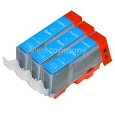 3 Tintenpatronen CANON mit Chip CLI-521 cyan blau MP 990 MX 860 MX 870 NEU