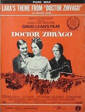 DOCTOR ZHIVAGO SHEET MUSIC, 1965 (MGM FILM, OMAR SHARIF, JULIE CHRISTIE +