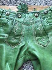 Marjo Trachtenlederhose Ledershort kurz Damen/Mädchen Gr. 34 aus weichem Leder