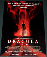 Wes Craven presents DRACULA 2000 ORIGINAL 13x20 MOVIE POSTER!