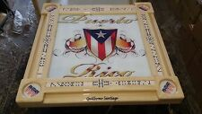 Puerto Rican Pride Mesa de Domino Table by Domino Tables by Art w/Your Name Free