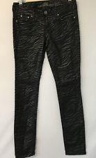 Almost Famous Black Zebra Print Skinny Jeans Pants Junior's Size 5 #C7-5