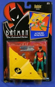 BATMAN THE ANIMATED SERIES ROBIN WITH TURBO GLIDER 1992 MOC KENNER