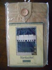 "Nantucket Tier (s) (pr) 60"" W x 36"" H Waffle Weave Button Northcrest Tan Beige !"