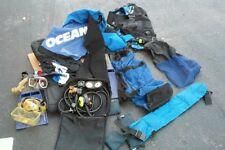 OCEANIC SCUBA FULL DIVING SET 2 MASKS REGULATOR GAUGES VEST BODY GLOVE BAGS