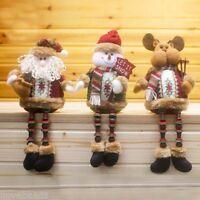1PC Christmas Decorations Santa Reindeer Snow Ornament Posture Sitting Doll