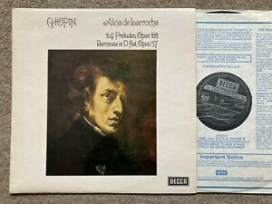 Decca SXL 6733 Alicia de Larrocha - Chopin Préludes.. NM