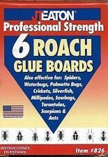 6 Pack of Glue Traps for Roaches, Ants, Spiders Silverfish Scorpions and Ants