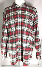 American Living Shirt Mens Plaid Multi-Color Cotton Long Sleeve Size XL