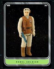 Topps Star Wars Card Trader Vintage Collector Series Green Rebel Soldier Wave 2