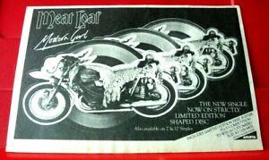 """Meat Loaf Modern Girl Vintage ORIGINAL 1984 Press/Magazine ADVERT 8.5""""x 6"""""""