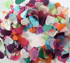 1000 x  26mm Tissue Paper Rainbow Hearts Confetti/Favors/Multi-Colored UK