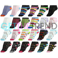 Womens Ankle Sock Ladies Trainer Socks Summer Shoe Liners Invisible Sock 12 Pack