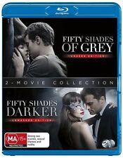 Fifty Shades Of Grey / Fifty Shades Darker (Blu-ray, 2017, 2-Disc Set) NEW