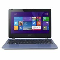 "Acer Aspire E3-111 Portable Laptop 11.6"" HD 500GB Celeron Blue Wifi Windows 10"