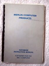 35500 Merlin Database Manual