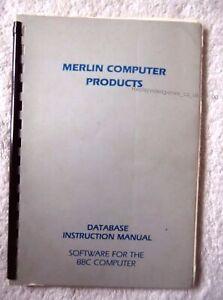35500 Merlin Database Manual