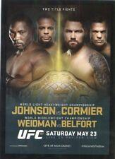 2015 TOPPS UFC POSTER CARD INSERT 187 CHRIS WEIDMAN VITOR BELFORT DANIEL CORMIER