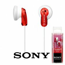 Sony MDR-E9LP In-Ear Canal Fashion Color Earbuds Headphones Earphones Red
