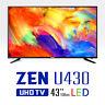 "WASABI MANGO 43"" ZEN U430 Palette Slim Real 4K UHD TV 60Hz 3840x2160 Monitor"