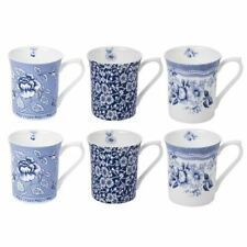 Queens Blue Story Royale Mug Set 6pce set - NOT gift boxed- Albertine, Calico...