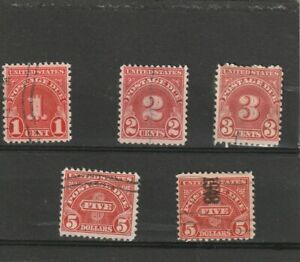 USA 1930-31 Postage Due Selection of 5 Used