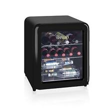 Swan SR16210BN Retro Style Table Top Fridge Drinks Food Wine Cooler 46L - Black