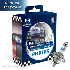 Authentic Philips Racing Vision up to 150% Brighter H4 9003 60/55W Halogen Bulbs