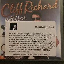 Cliff Richard 'Roll Over Beethoven' Mint Sony 1 Track Promo CD & Press Sticker