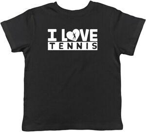 I Love Tennis Childrens Kids T-Shirt Boys Girls