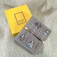 Rare Christofle Christian Lacroix Silver Plated Cocktail Sticks Boxed Set 1980s
