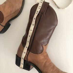 💲MAKE OFFER💲 Sz 8 Brown/Beige Unisex Tony Lama Boots