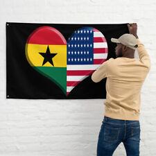 Ghanaian American Flag Ghana Pride American Pride African Art
