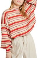 Free People Womens Steph Striped Long Sleeve Top Land Multicolor Size XS