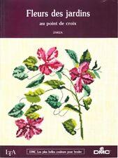 LIVRE Fleurs des jardins au Point de croix LTA DMC Zarza
