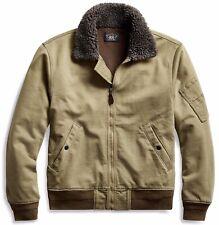 RRL Ralph Lauren 1940s Inspired Cotton Jersey Bomber Jacket-MEN- XL