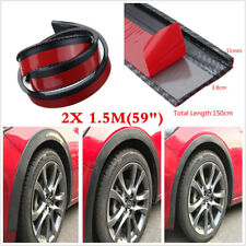 2PCS 1.5M Carbon Look Car Wheel Eyebrow Protector Trim Arch Flare Fender Strips