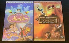 Disneys: Aladdin & The Lion King DVD Bundle (Brand New /...