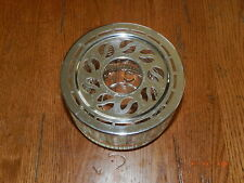 Vtg Vintage Silex Candle Warmer Glass For Coffee Pot Teapot Metal Patent applied