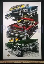 "TRI 5 CHEVY POSTER ART PRINT 1955 1956 1957 Chevrolet 55 56 57 Chevy 19"" by 28"""
