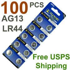 100 PCS AG13 LR44 Button Cell Batteries A76 357 157 1154 for Watch Lighter