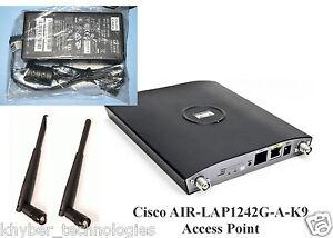 Cisco AIR-LAP1242G-A-K9 Wireless Access Point + 2 Antenna Ac Adptor 1month warra