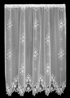 """Heritage Lace WHITE TEA ROSE Panel 60""""W x 63""""L - Made in USA!"""