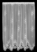 "Heritage Lace WHITE TEA ROSE Panel 60""W x 63""L - Made in USA!"