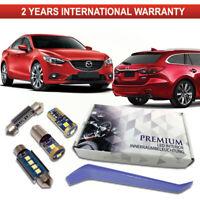 Mazda 6 LED Interior 10 White Premium Bulbs Error Free GJ GL 2012-2020 Full Set
