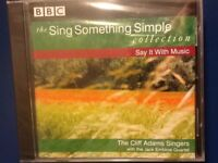 CLIFF. ADAMS. SINGERS.       SING. SOMETHING. SIMPLE.        SAY IT WITH MUSIC.