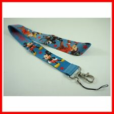 NEW ARRIVAL Mickey Mouse Neck Lanyard Strap Cell Mobile Phone ID Card Key chain